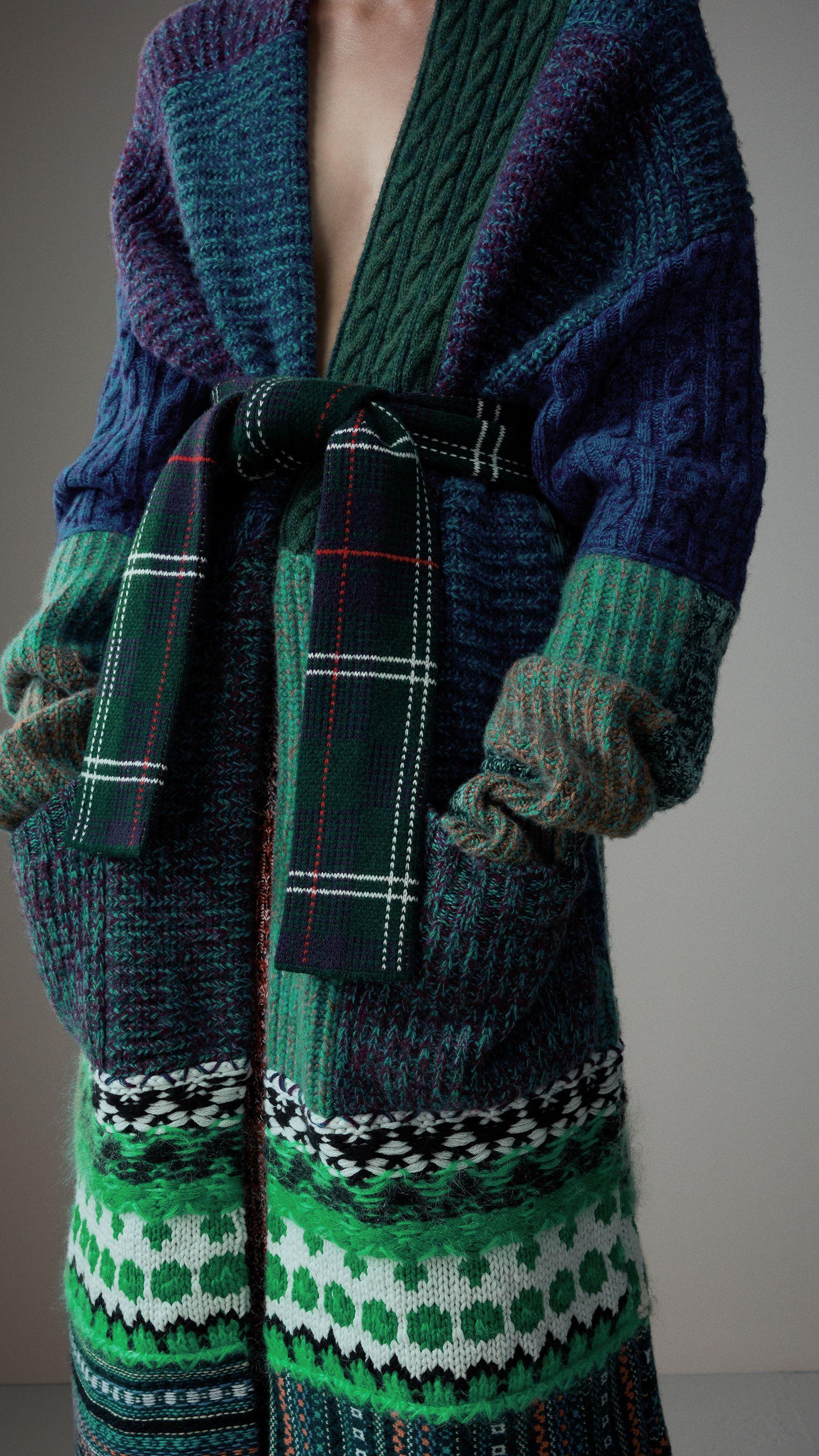 maille épaisse 品 le manteau tricot laine hiver bleu vert coat knit wool  blue green wool esprit écossais scotland 45eaff2edd41
