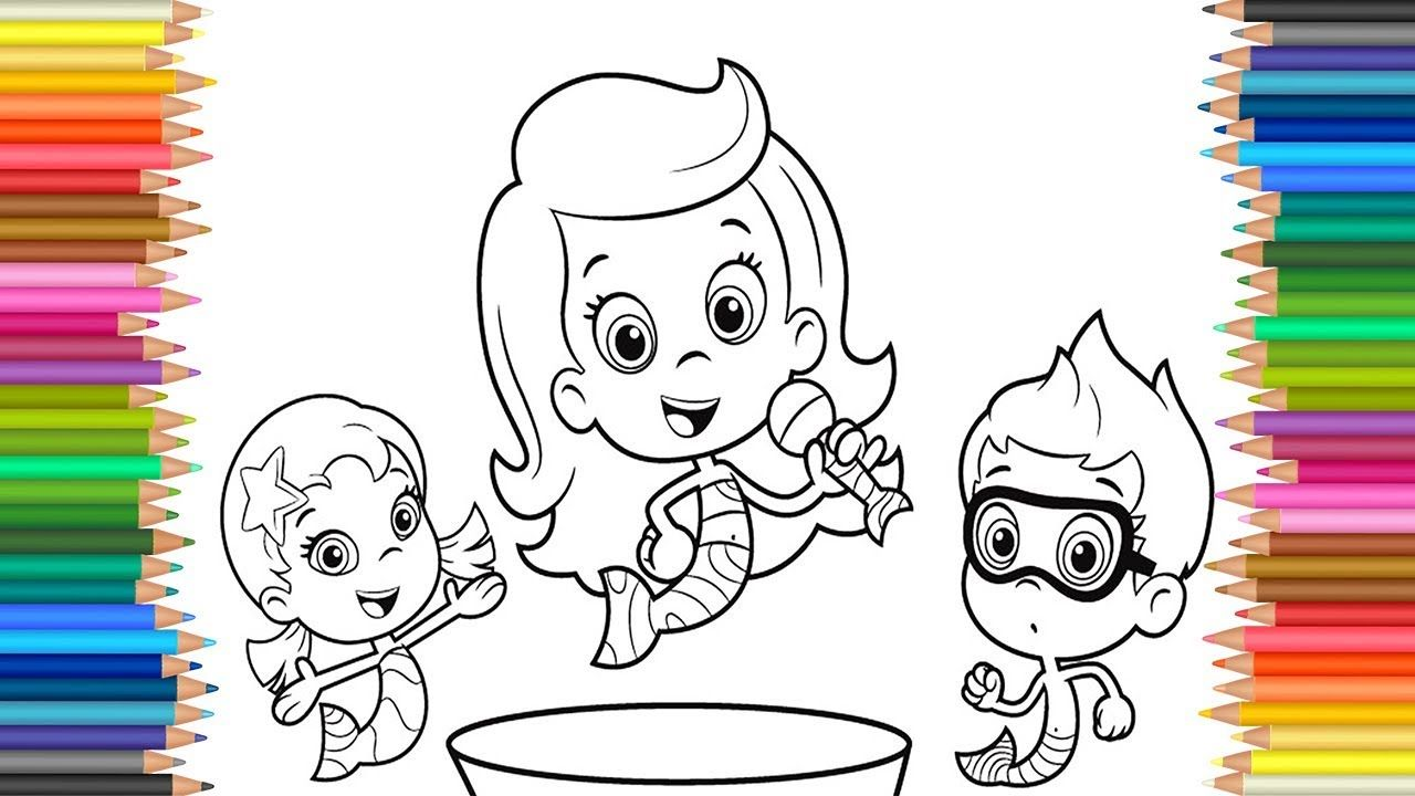 Bubble Guppies Molly Oona and Nonny Coloring Page l learning Colours ...