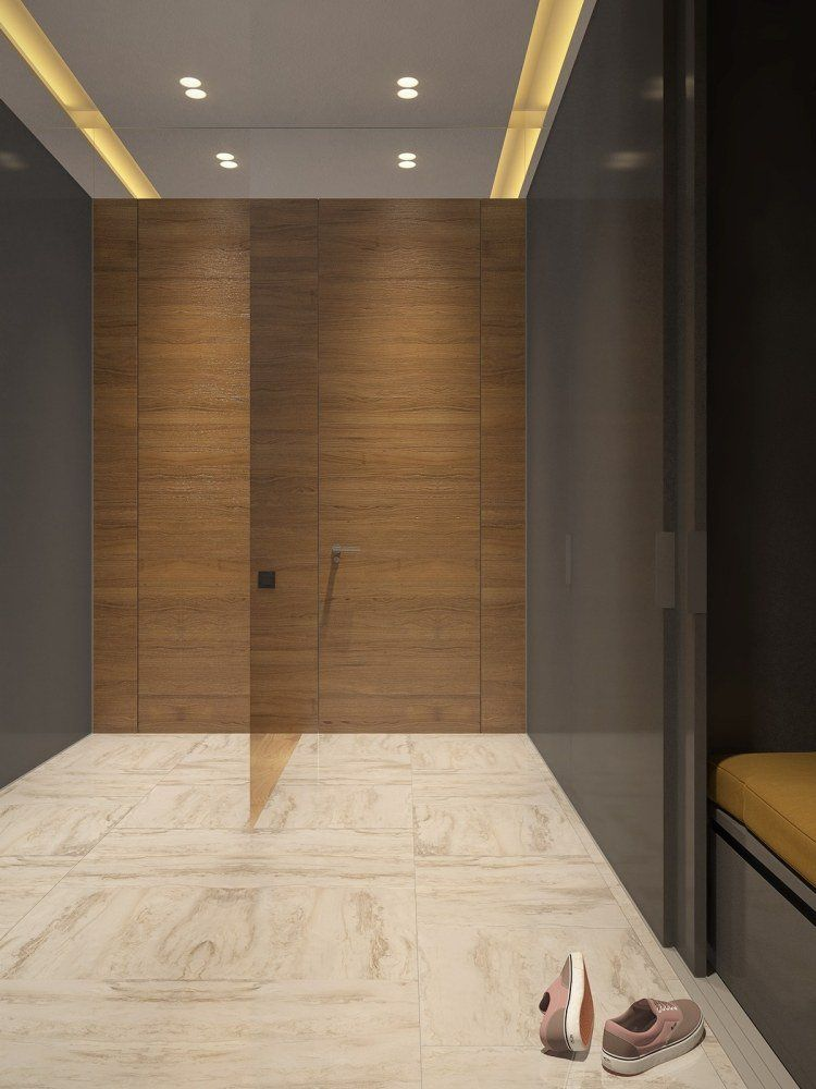 Couleur gris taupe, bois massif et déco géométrique ! Pinterest - Salle De Bain Moderne Grise
