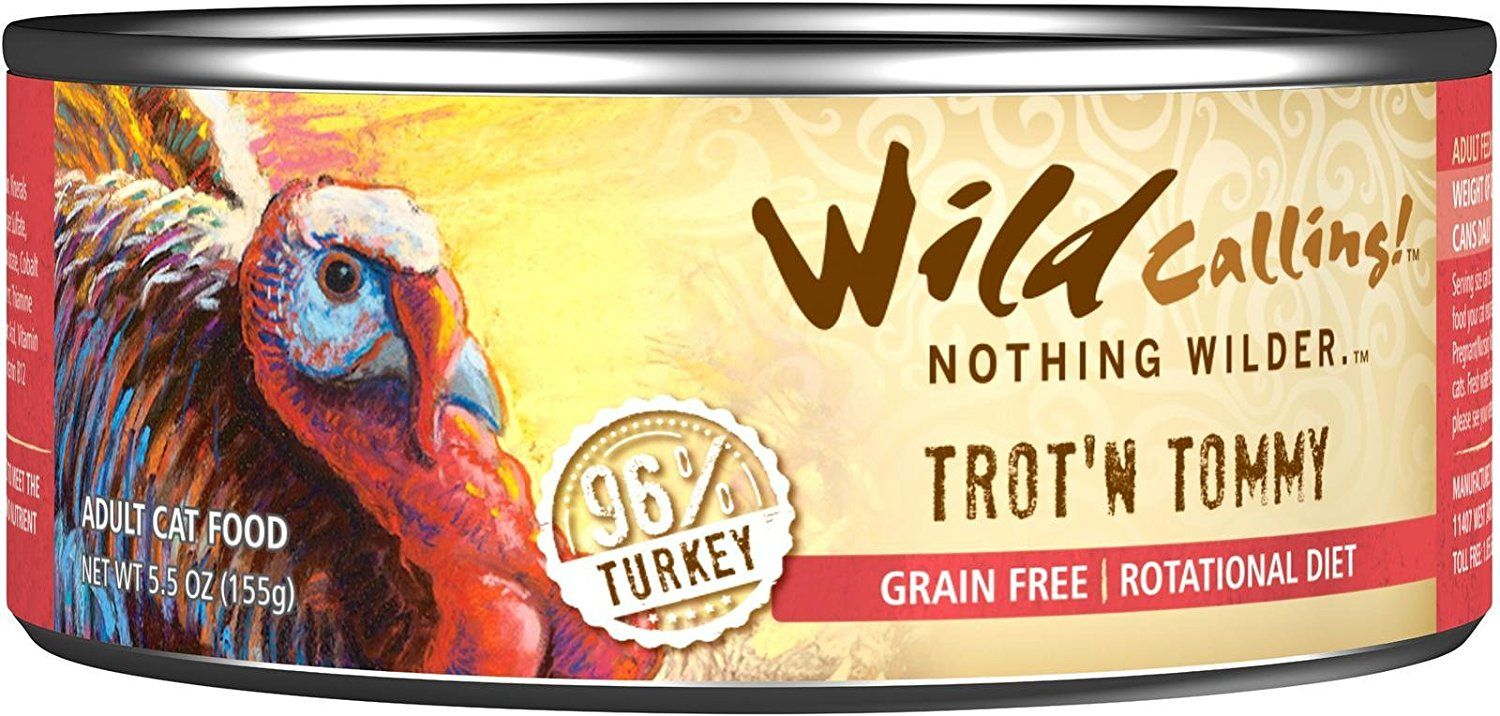 Wild Calling Canned Cat Food TrotN Tommy 96 Turkey 5