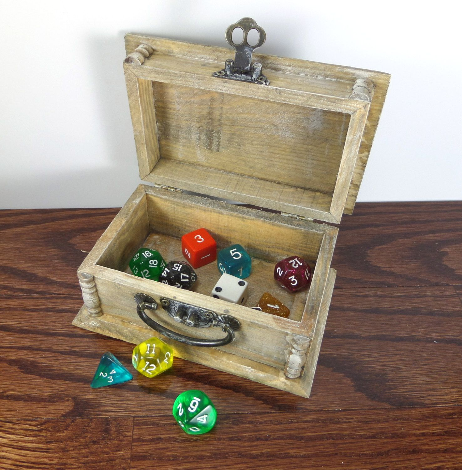 Dungeons And Dragons Dice Box Wood Dice Box With Hinged Latch