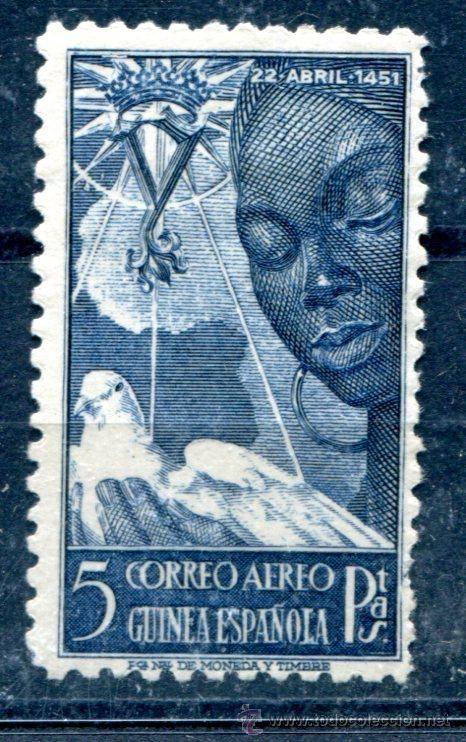Sellos: Edifil 305 de Guinea española. Nuevo con fijasellos. - Foto 1 - 51376148