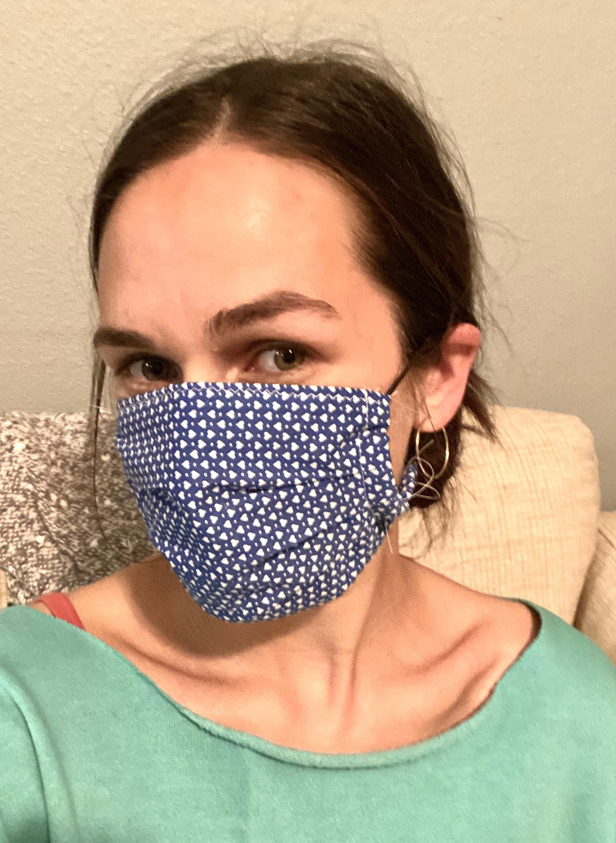 Selfdrafted two layer cotton face mask sewing crafts