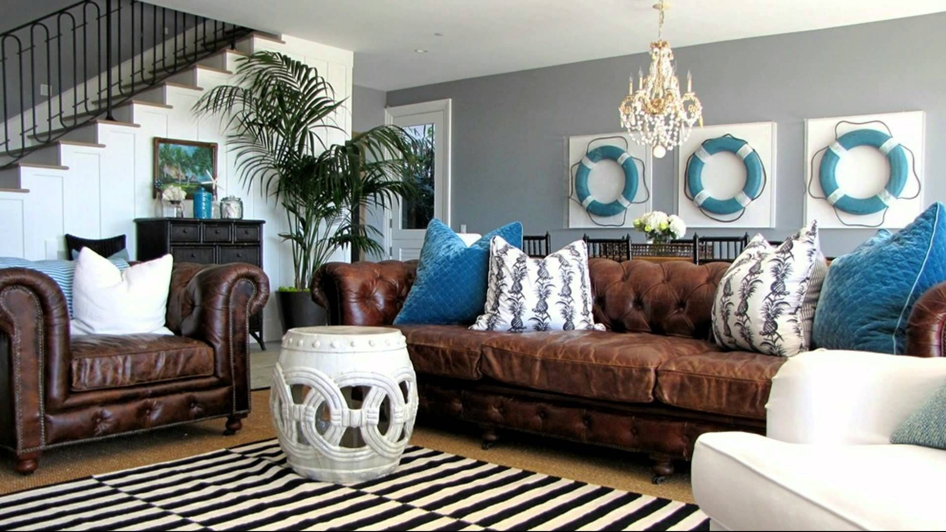Enchanting house interior ideas and beach design nautical themed decorating also rh pinterest