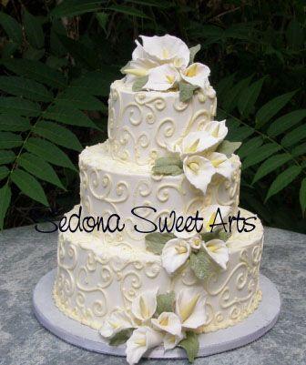 Calla Lilies Wedding Cake Wedding Cake Designs Pinterest - Calla Lilly Wedding Cake