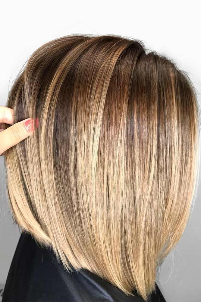 21 Not Time Robbing Shoulder Length Hairstyles | Balayage straight hair, Straight hairstyles ...