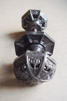 Pair of Victorian Pierced Cast Iron Door Knobs by Kenrick | Handle ...