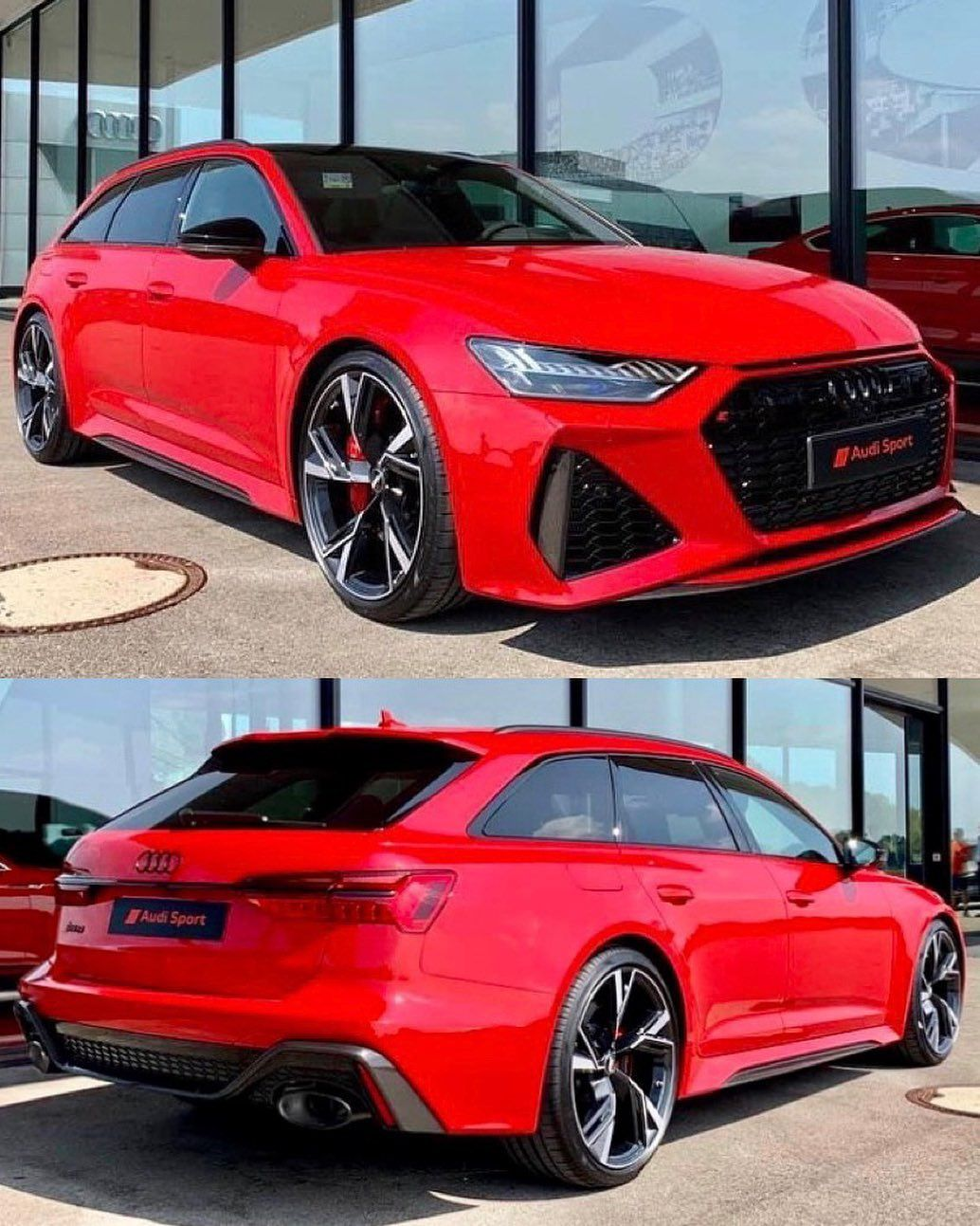 The New 2020 Audi Rs6 Avant Spotted Spec D In Red Phot Audi Rs6 Audi Wagon Audi Rs6 Wagon