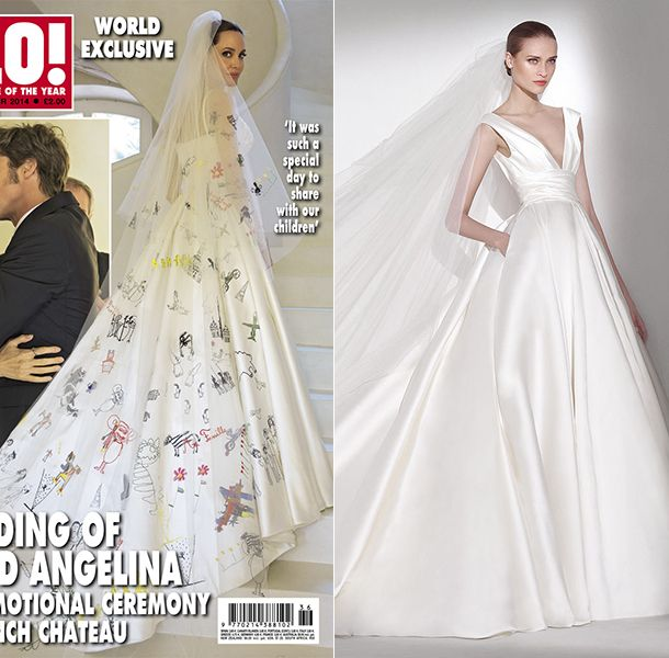 Wedding Dresses In The Style Of Angelina Jolie Vintage