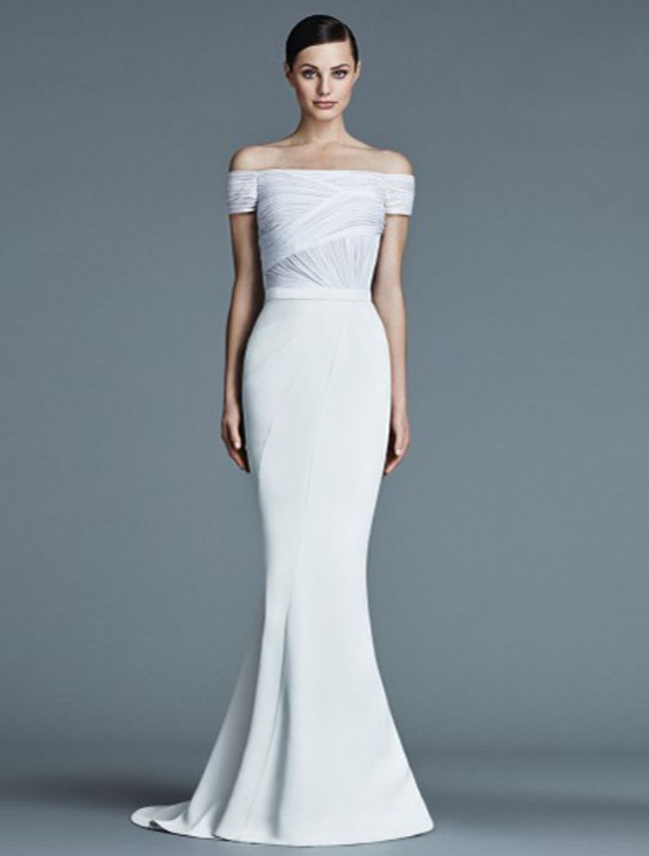 Silk sheath wedding dress  This  Authentic New J Mendel Ava BG wedding dress is