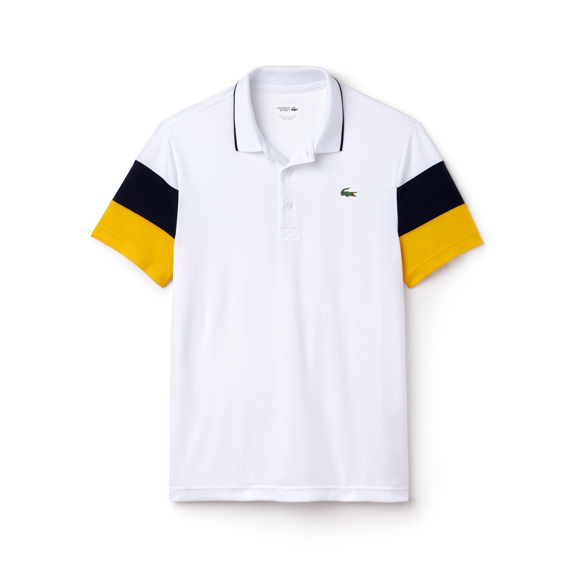b70c38234c Men's Lacoste SPORT Colorblock Sleeves Technical Piqué Polo Shirt | LACOSTE