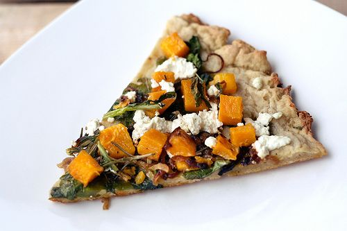 Butternut Squash, Arugula, and Goat Cheese Pizza