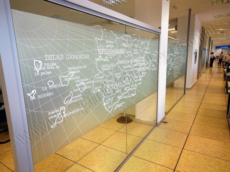 Vinilos personalizados decoraci n oficinas carteler a - Vinilos personalizados pared ...
