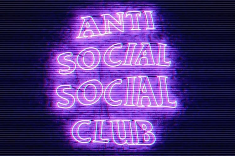 Anti Social Social Club Discovered By Moon On We Heart It Dark Purple Aesthetic Violet Aesthetic Purple Wallpaper Iphone