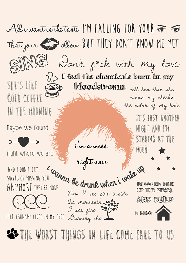 Lyric pick up the pieces lyrics : Estampas Coleção Ed Sheeran on Behance | Creative Juices ...
