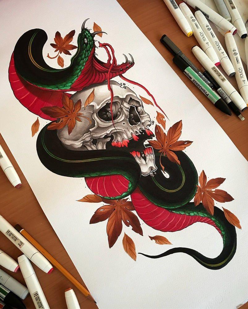 Photo of Skull n Snake 2018