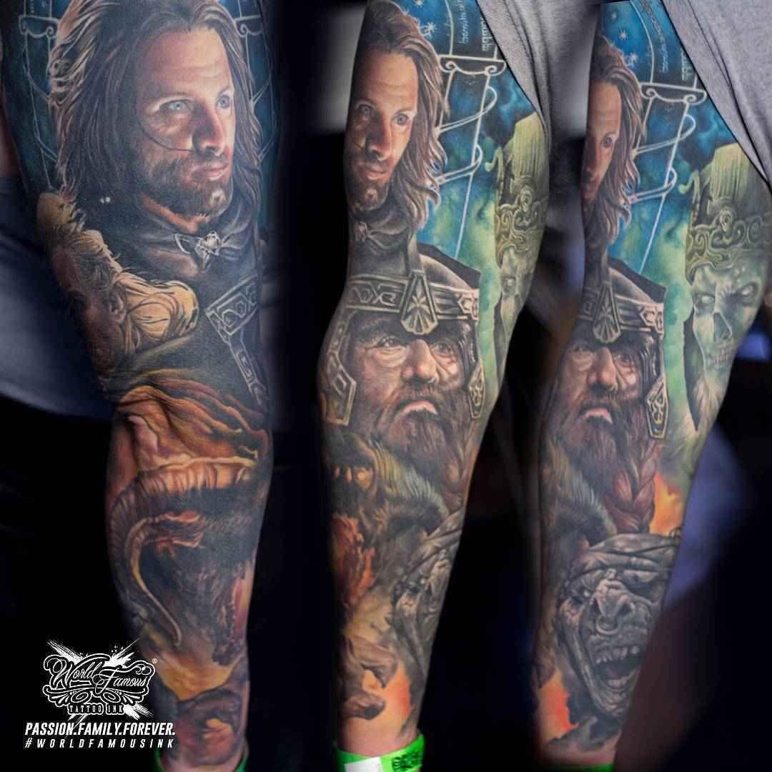 Tattoo Artist Sarah Miller In 2020 Sarah Miller Lord Of The Rings Tattoo Lotr Tattoo