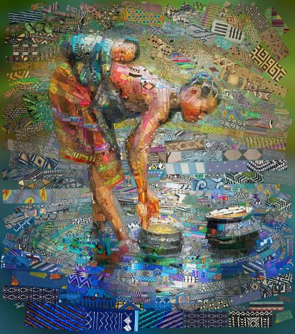 """Afrikan brick Art – by Charis Tsevis"" #art #afrika #colours #brick #creative #explore #raw"