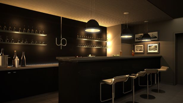 Genial Elegant Black Home Lounge Bar