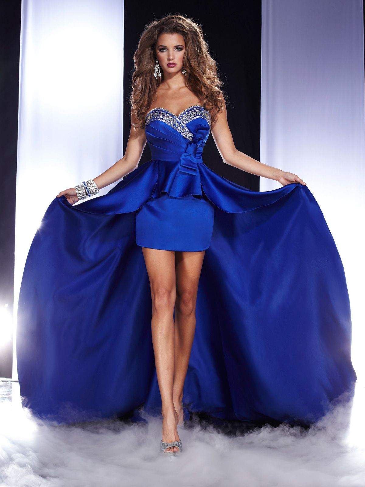 Edgy satin prom pageant gown Panoply 14483. A design superior in ...