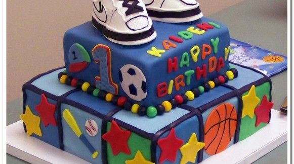 Admirable Kaidens All Star Sports 1St Birthday Cake With Images Boy Funny Birthday Cards Online Bapapcheapnameinfo