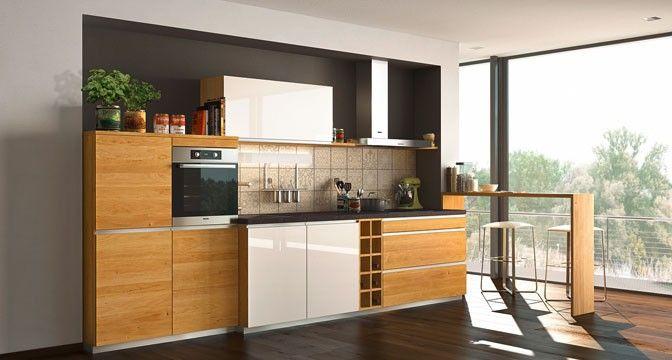 l1 Küche mit schlichtem Design und zahlreichen ... | {Küchenzeile design 7}