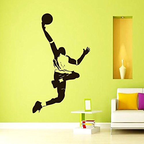 Vinyl Wall Decals Basketball Player Sport Decal Boy Room Kids ...