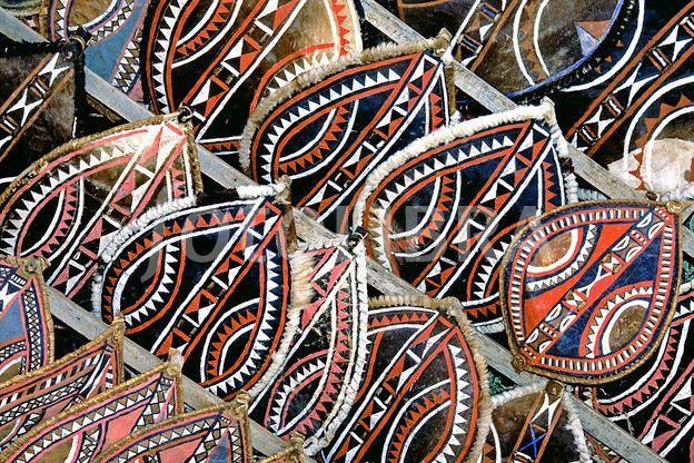 Tribal shields for sale, Tanzania  (Ceremonial Masai shields