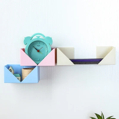 4Pcs Creative DIY Paste Wall Hanging Decorative Storage Rack Kitchen