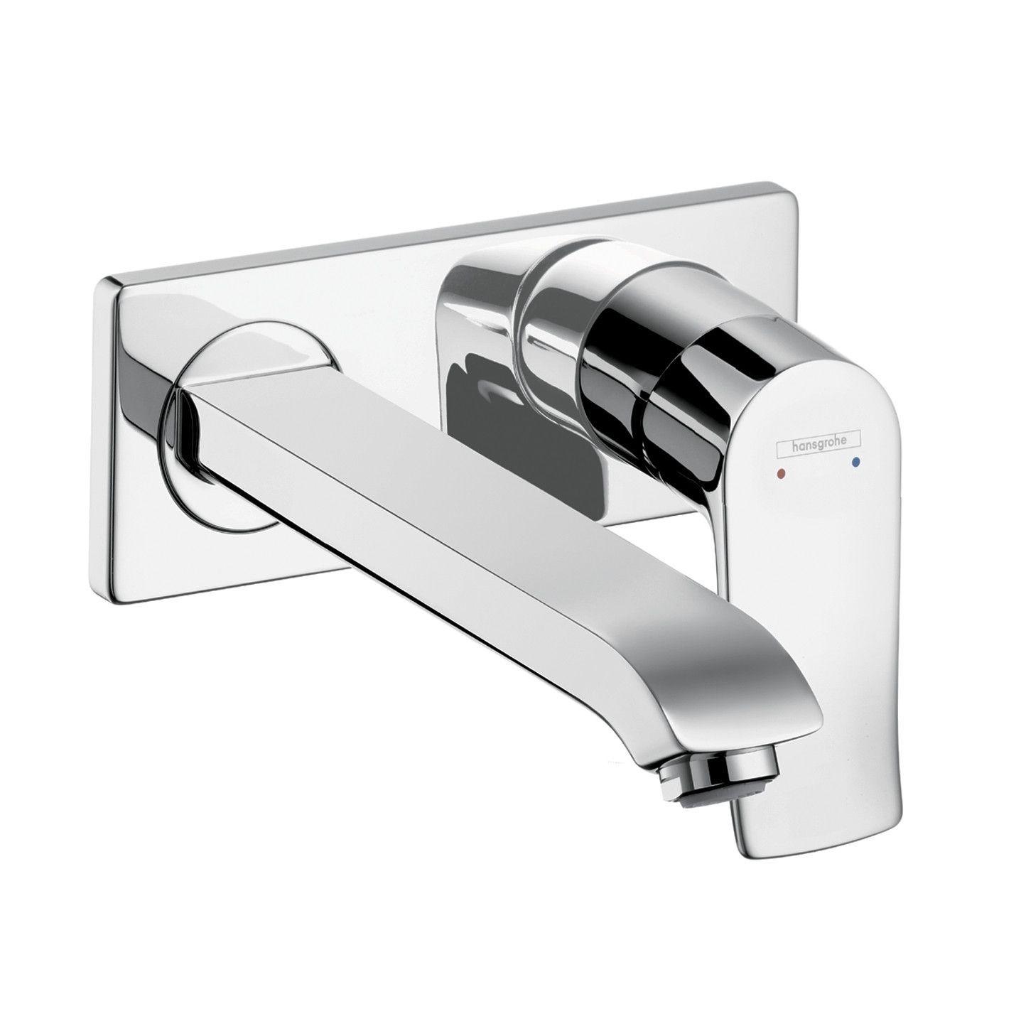 Hansgrohe 31086001 Chrome Metris Wall Mounted Bathroom Faucet ...