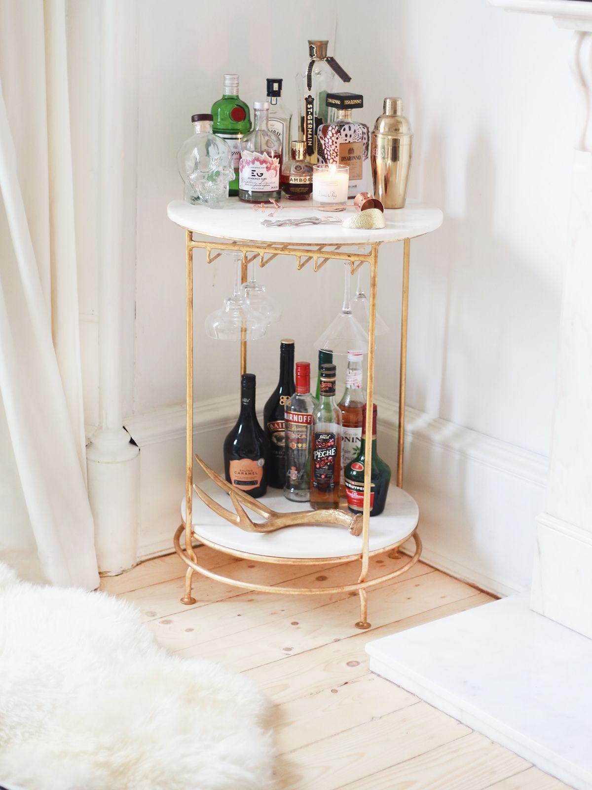 Five Favourite Corners Of My Home Kate La Vie Home Bar Decor Bar Cart Decor Bar Cart Styling