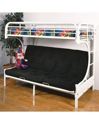 Acme Eclipse Twin Full Futon Bunk Bed White 02091w W Futon