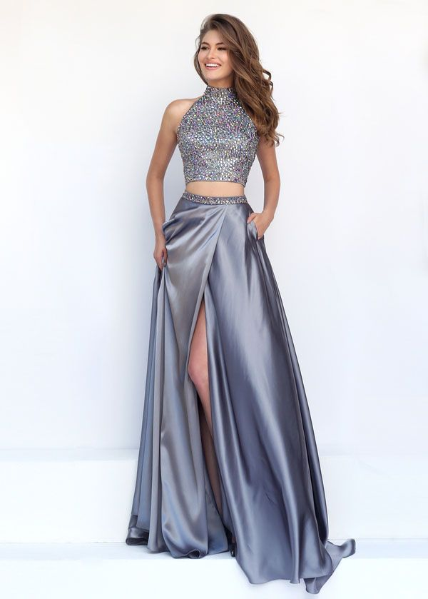 dress halter neck two piece - Google Search | Gabrielle\'s prom dress ...
