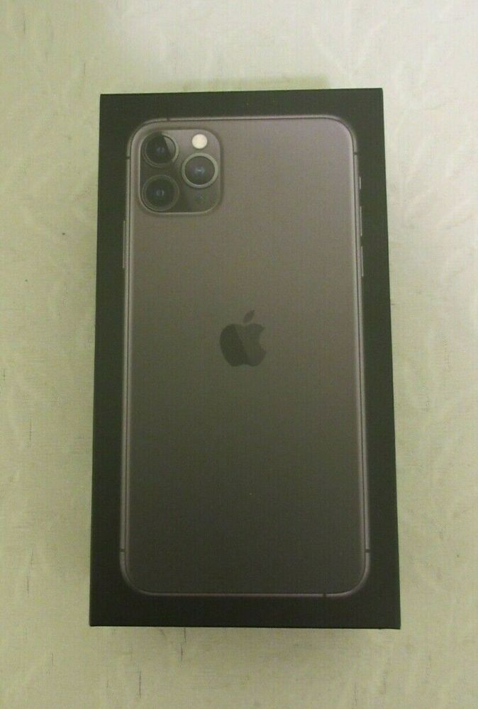 Apple IPhone 11 Pro Max Space Gray 64GB EMPTY BOX ONLY Manual Stickers Simm Tool #PROMAX
