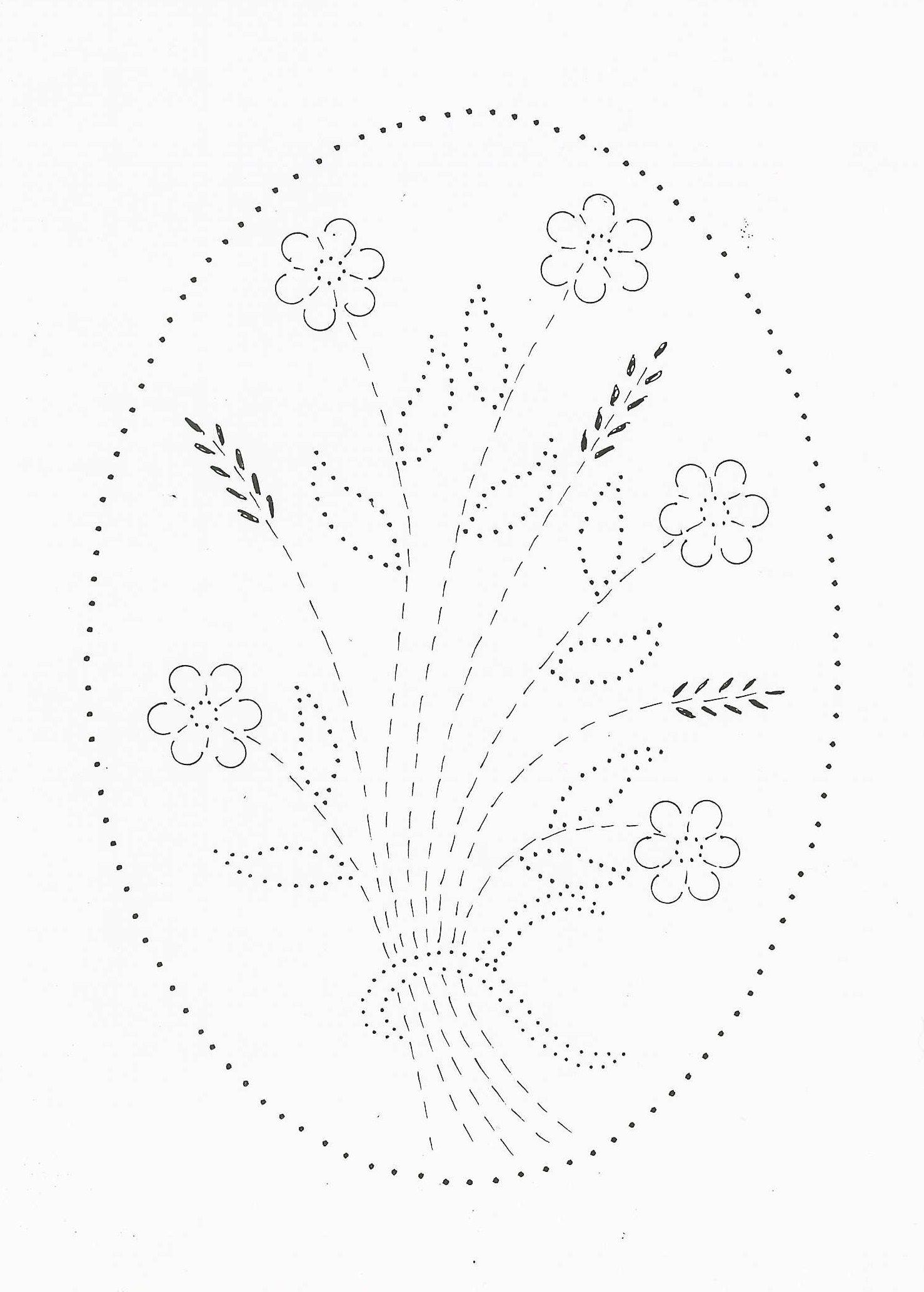 Wheat Flowers Tin Punch Patterns Embroidery Patterns Vintage Punched Tin Patterns Paper Embroidery