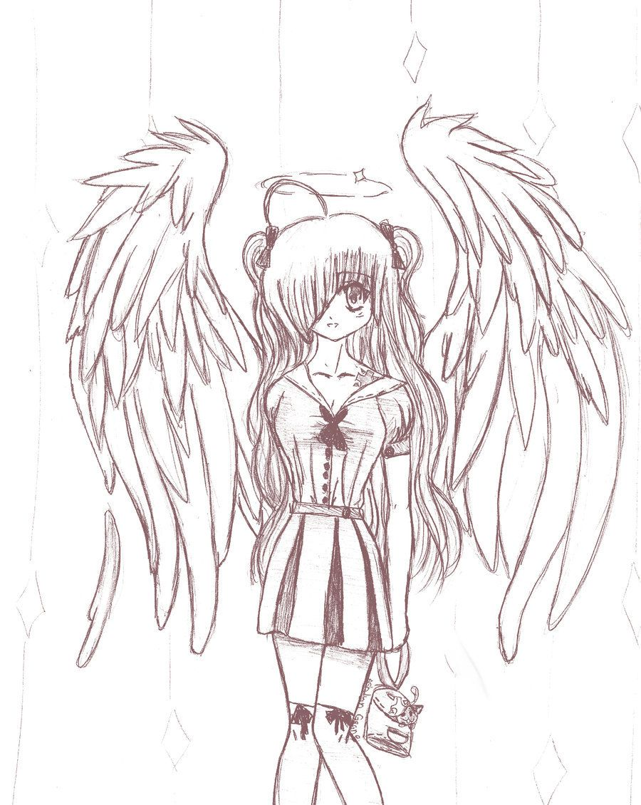 the blonde angel: sketch by anime-girl7