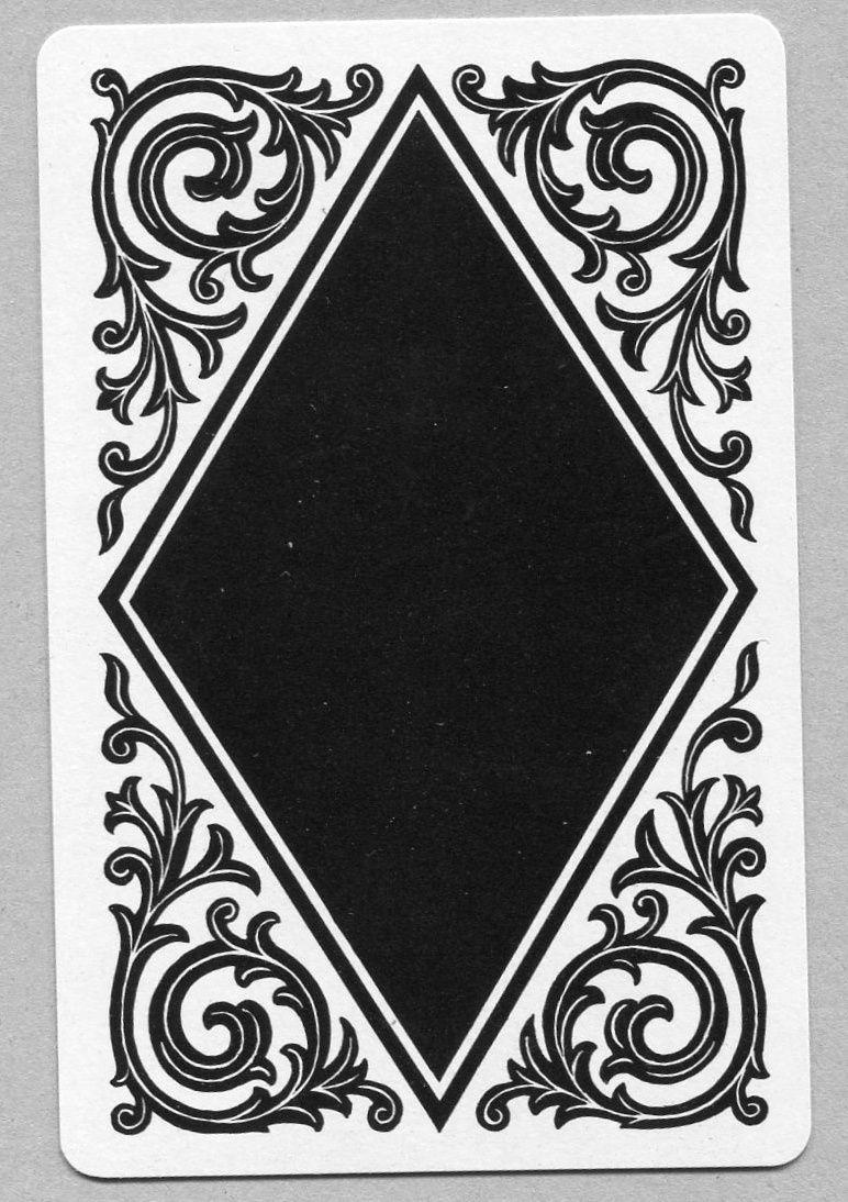 Single swap playing card vintage black white deco pattern design