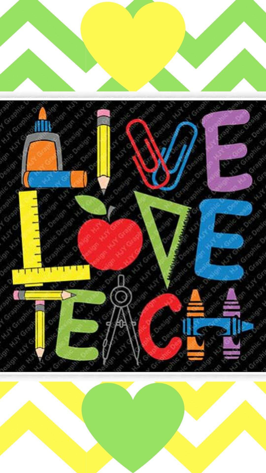 Download Teacher, Live Love Teach, Glue, Pencil, Paper Clips, Ruler ...