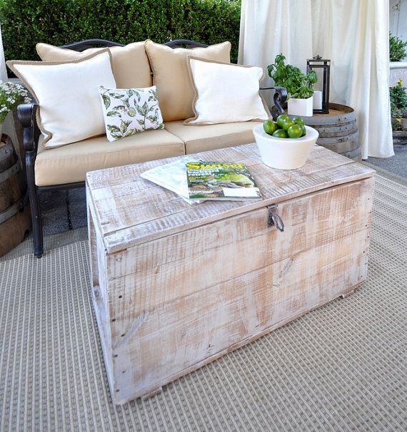 Whitewashed Trunk Coffee Table By CamilleMontgomery On Etsy, $299.99
