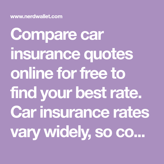 Compare Car Insurance Quotes Online For Free To Find Your Best