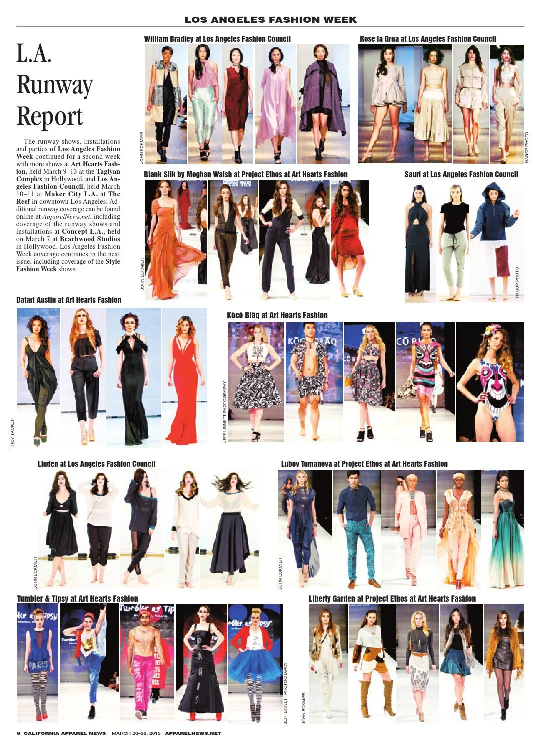 California Apparel News, Print Edition, March 20, 2015  Los Angeles Fashion Week, CALA, LA Market, American Apparel Resolves Lawsuit, and More Fashion Industry News.