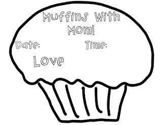 Muffins With Mom! Mother's Day Tea Invite Freebie