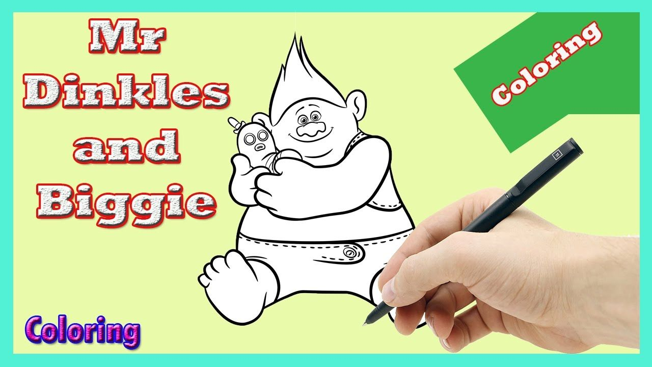 Biggie And Mr Dinkles Coloring Page In Trolls DreamWorks Crayola