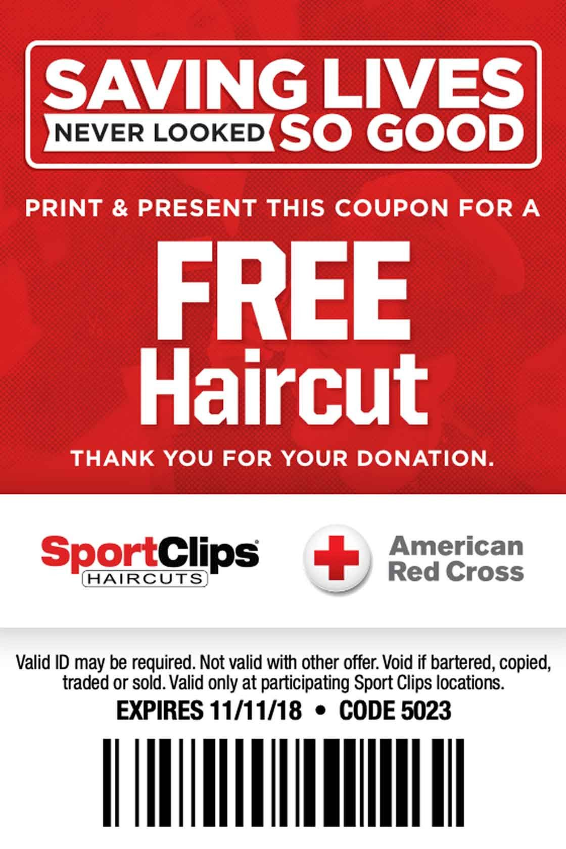 Sport Clips Coupon Sports Clips Saving Lives Free Haircut
