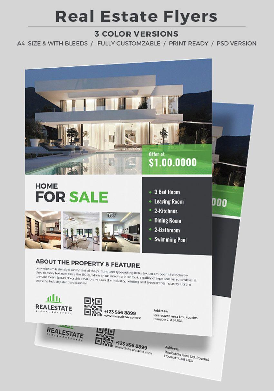 corporate real estate flyer illustrator pinterest real estate