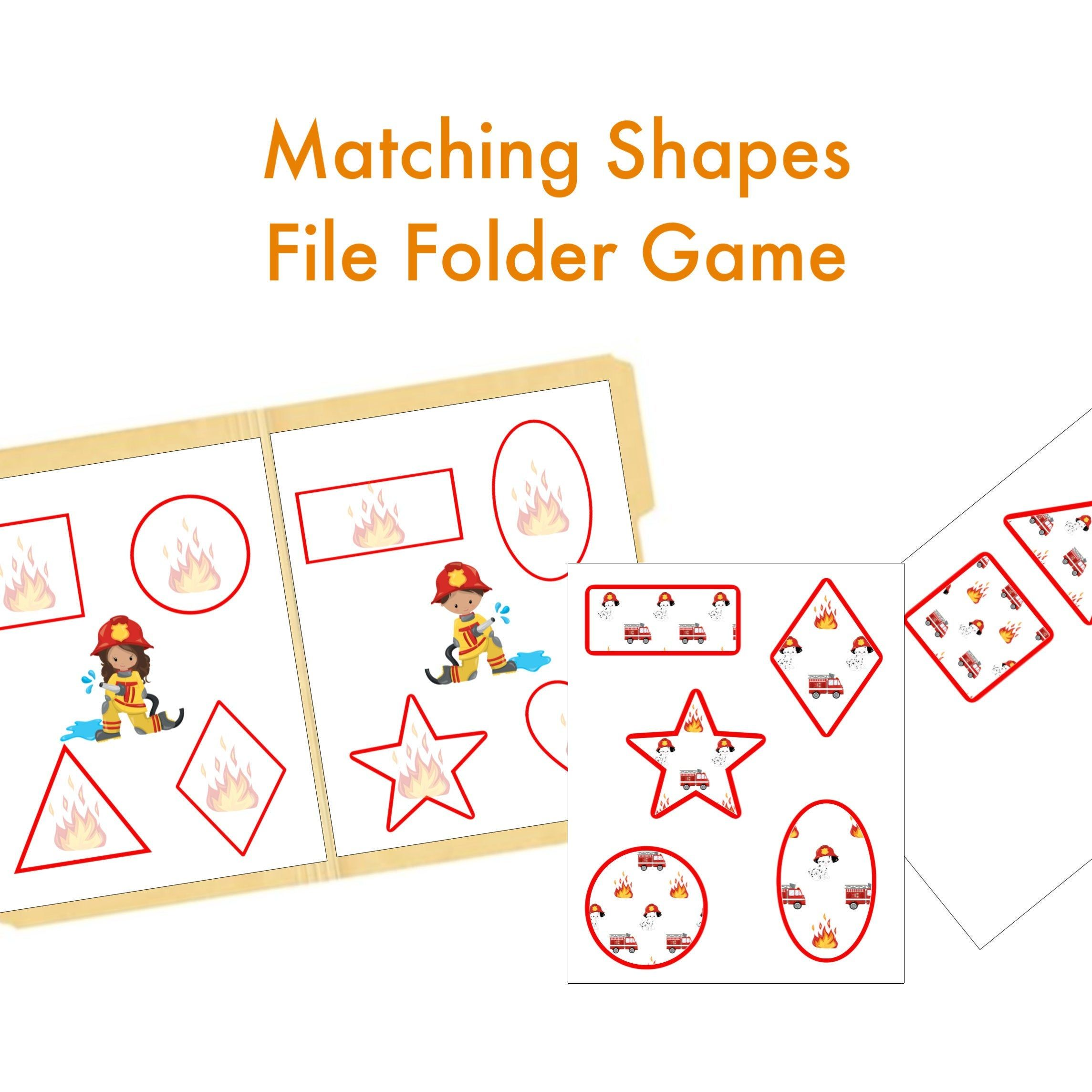 Shapes File Folder Game Quiet Book Busy Binder Learning