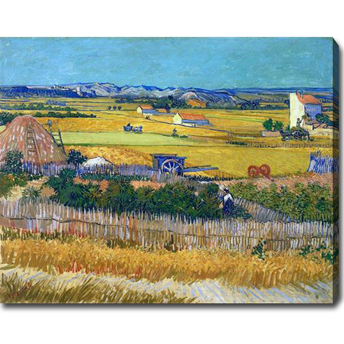 Vincent Van Gogh ' Harvest' Oil Canvas Art - Multi