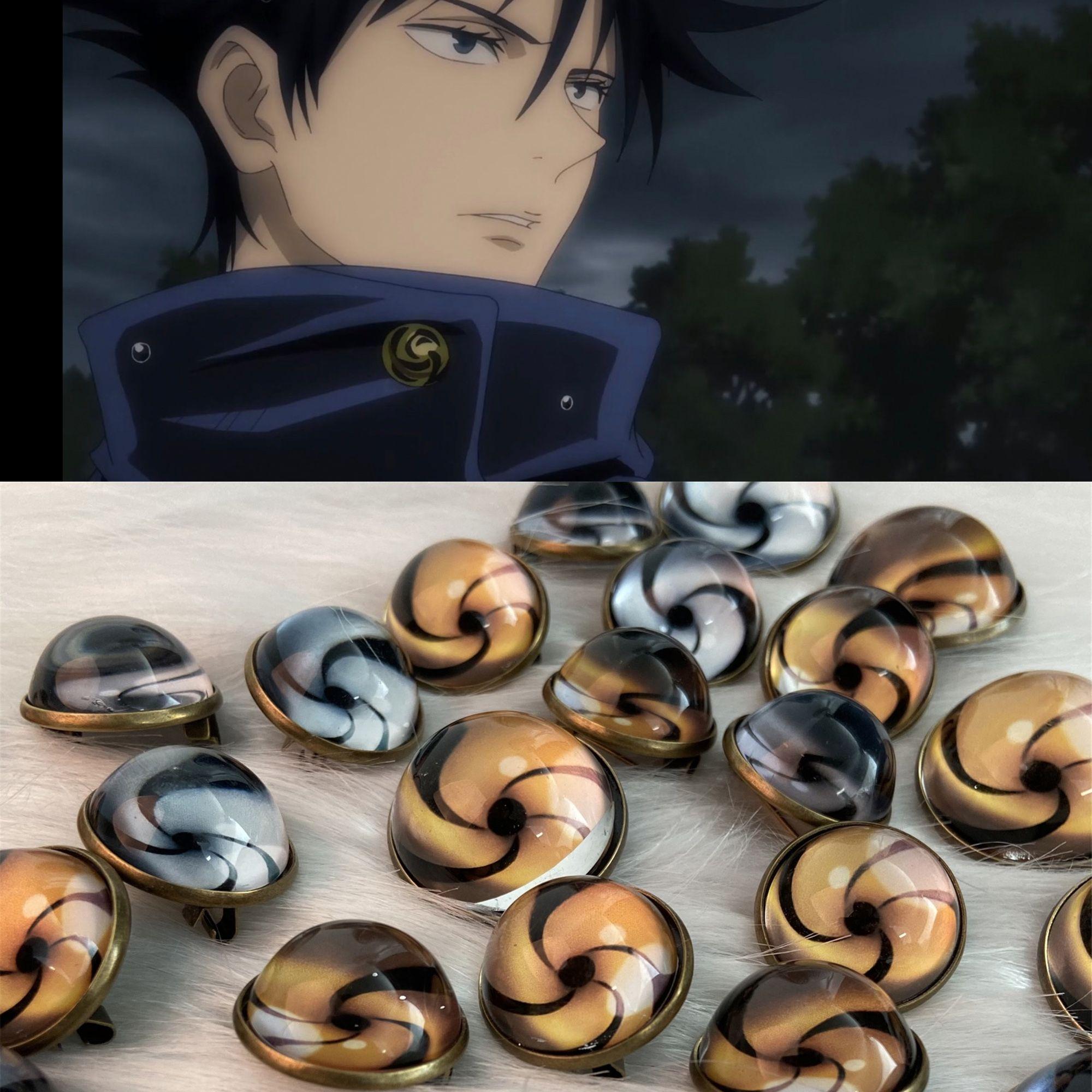 Anime Jujutsu Kaisen School Uniform Button Badge Cosplay Etsy In 2021 Jujutsu Anime School Uniform