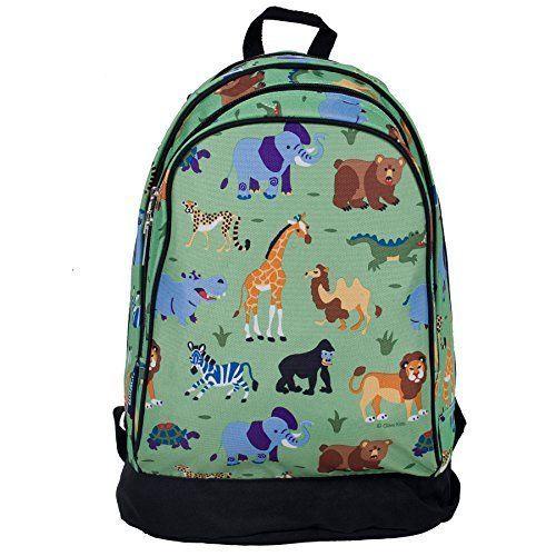 cfc0b4f5ed Boy Bag Kids Wild Animals Sidekick Backpack Jungle Lunch Books School  Travel New  OliveKids