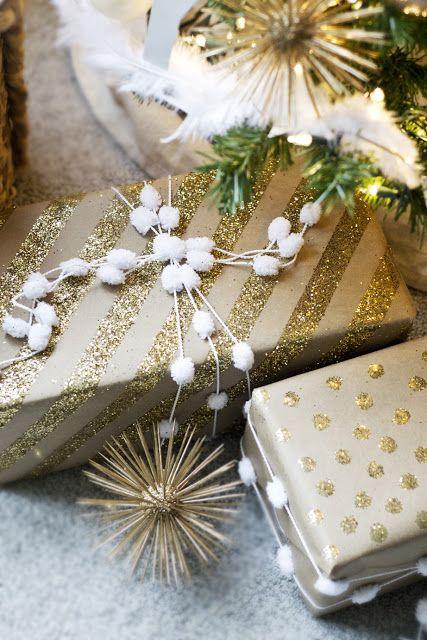 Wrap it Up #10 Kraft paper and glitter Envoltorios, Regalitos y - envoltura de regalos originales